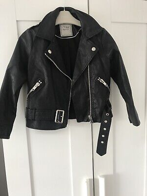 Girls Next Leather Look Jacket Age 6