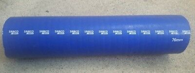 Samco Sport Silicone/Silicon Air/Water Hose/Bend Elbow 76mm In Blue