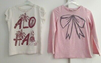 Girls Bundle Age 3 Years 2 X Tunic Tops By Next & Tu Pink & Cream Good Condition