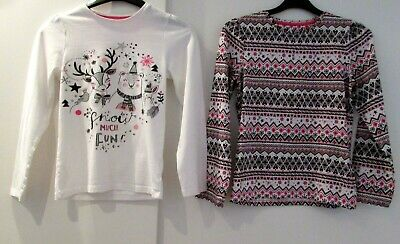 Girls Bundle Age 9-10 Years Long Sleeve Tunic Tops By Tu Good Condition