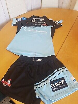 Leigh Centurions 2018 Rugby League Test Fit Jersey & Shorts size S adult