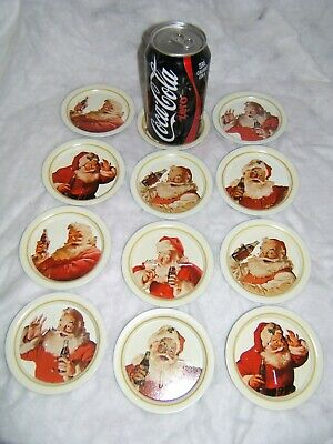 Vintage Coca-Cola Tin Coasters
