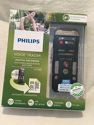Philips Voice Tracer Digital Recorder With Speech Recognition Software Dvt2700