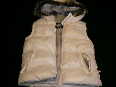 Girls White Hooded and Padded Gilet - Age 11-12 by Primark