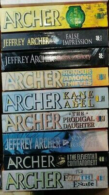 Upto 2kg box (approx 6 books) of Jeffrey Archer Best-Sellers / Collection of 10