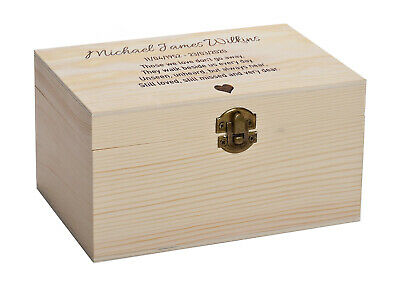 Personalised Human Adult Memorial Ashes Urn Cremation Luxury Pine Casket
