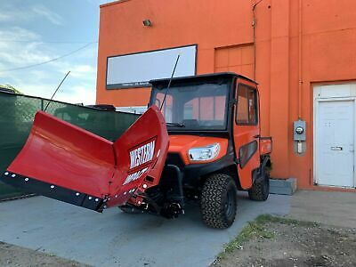 ENCLOSED HEATED Kubota RTV - X 900 WITH HYDRAULIC BRAND NEW WESTERN V PLOW
