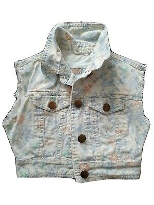 Girls Denim Floral Cropped Jacket New Look 9-10, Years