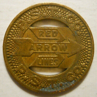 P.S.T. Co. Red Arrow Lines (Upper Darby, Pennsylvania) transit token - PA935A