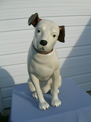 "Vintage 36"" Tall Paper Mache' RCA VICTOR ""Nipper"" Dog Store Display Pick-Up Only"