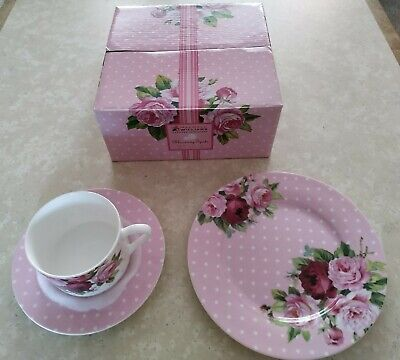 Maxwell williams designer homeward blooming spots china cup saucer and plate set