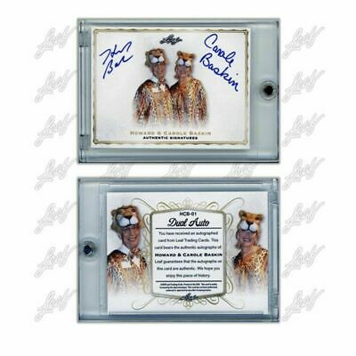 Leaf Cards Howard & Carole Baskin Dual Auto Signed Tiger King - Only 400 Made!