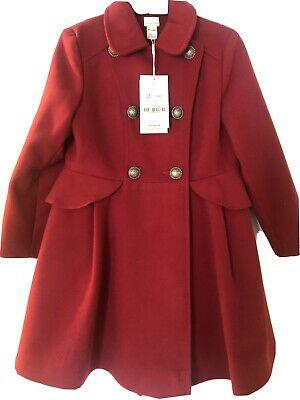 Girls Monsoon Red Victoria Coat BNWT Age 7-8 Years