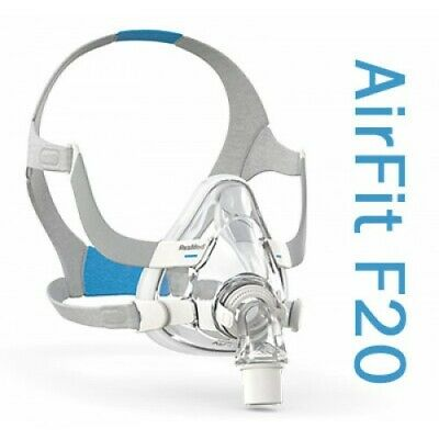 ResMed AirFit™ F20 Full Face CPAP Mask with Headgear (Size S)
