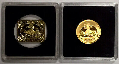 Canada 2001 3 Cent Coin + Canada Postage Three Pence Coin (2 Pieces) Beaver