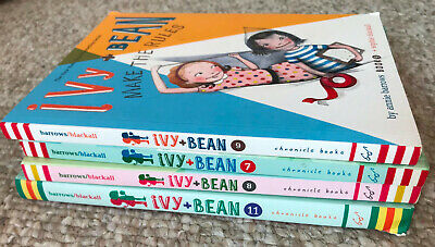 4 books set Ivy and Bean 7 8 9 11 Annie Barrows One Big Happy Family Make Rules