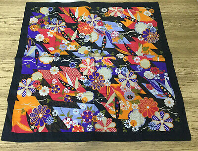 "furoshiki, Japanese traditional wrapping cloth Approx 19.5"" floral flower"