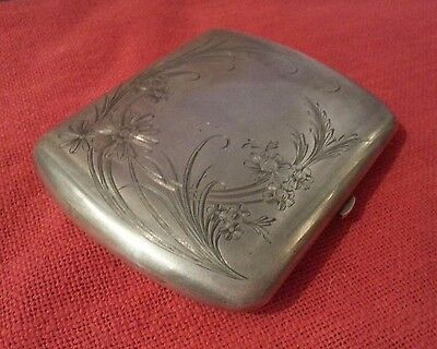 KHLEBNIKOV IMPERIAL RUSSIAN ANTIQUE SILVER GILT ENGRAVED CIGARETTE CASE 136gr