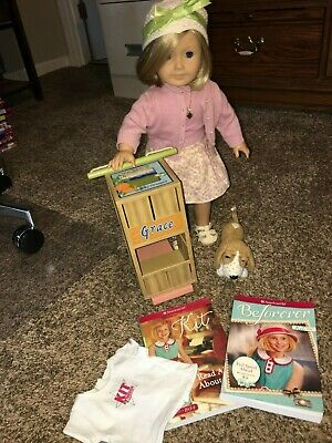 American Girl Kit Doll's Scooter/ Grace / books/ Kit Top