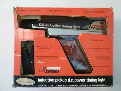 Sears/Penske DC Inductive Timing Light, chrome plated diecast metal, Used