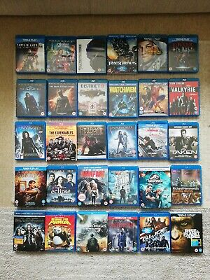 Job Lot of Mixed Blu Ray Discs Quantity of 30