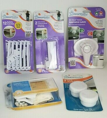 Toddler Child Safety Locks Dreambaby Drawer Cabinet Straps Cord Mixed Lot