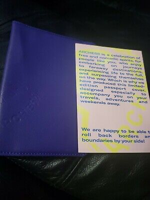 Arche68 Limited Edition Passport Cover Leather Purple New