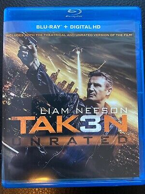 Taken 3 Unrated (Blu-ray Disc, 2015, Includes Digital Copy)