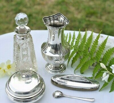 Five Nice Sterling Silver Antique/Vintage Items  - For Use Or Resale