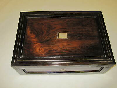 Victorian Burr Walnut writing slope with inlaid metal stringing