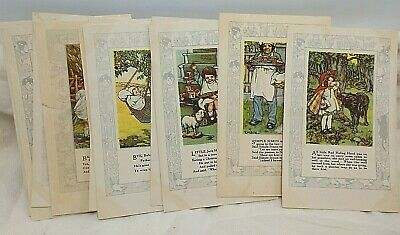1910's Pan-Dandy Bread Sutorius Bread Co. Nursery Rhyme Adv. Cards 19 Different