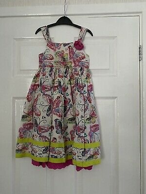 Girls White Print Fully Lined Sundress Age 3-4 Years From George
