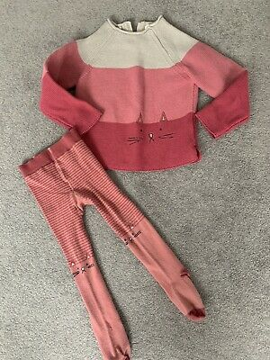 Next Girls Jumper And Tights 2-3 Years