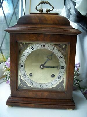 Handsome Larger Elliott Of London Striking 8 Day Mantle Clock