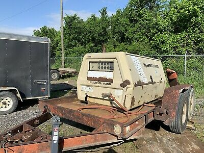Ingersoll rand air compressor And Trailer