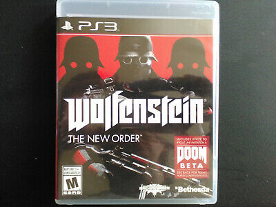 Wolfenstein: New Order PS3 Complete, Tested, Sanitized, Adult Owned