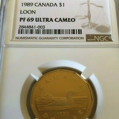 1989 $1 Canada Loonie Ngc Pf69 Loon Dollar Proof Extremely Rare