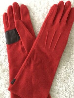 NEW ECHO Red Gloves Womens Size XL Soft Wool
