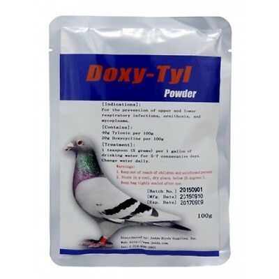Pigeon Product - Doxy-Tyl 100g - respiratory infections - Powder Treatment
