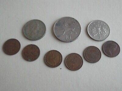 1/2 new pence and other obsolete coins x 10