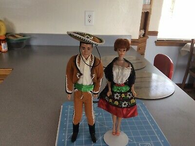 Vintage Barbie And Ken In Mexico