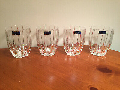 Marquis by Waterford Omega Double Old Fashioned Crystal Glasses, Set of Four (4)