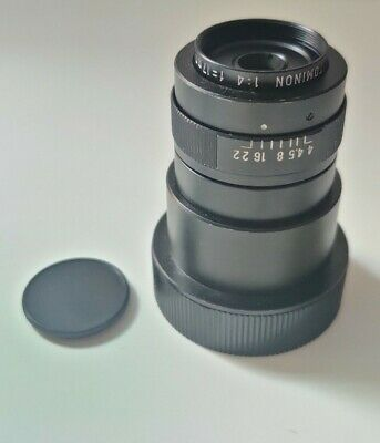 Tominon 17mm F4 1:4 Macro Lens. (4x Magnification)