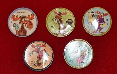 Bullwinkle Old London coins (1962) five different
