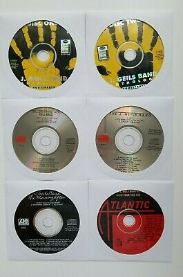 J. Geils Band 6 Disc Custom Collection Music Cd's (no jewel cases, discs only)