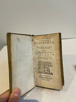 1642 antique Latin book - CICERO ROMAN History ELZEVIR Vellum Binding, ancient