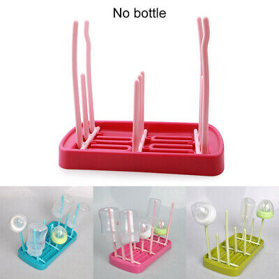 Foldable Drying Rack Cups Baby Bottle Pacifier Triplex Row Nipple Hanging Infant