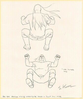 Metalocalypse Original Animation Art: Nathan Riding Dethcycle