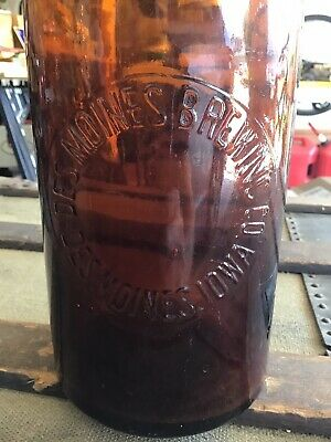 Des Moines Brewing Co Picnic Beer Bottle, Iowa IA