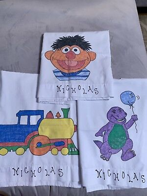 3 Personalized Nicholas Pillowcases